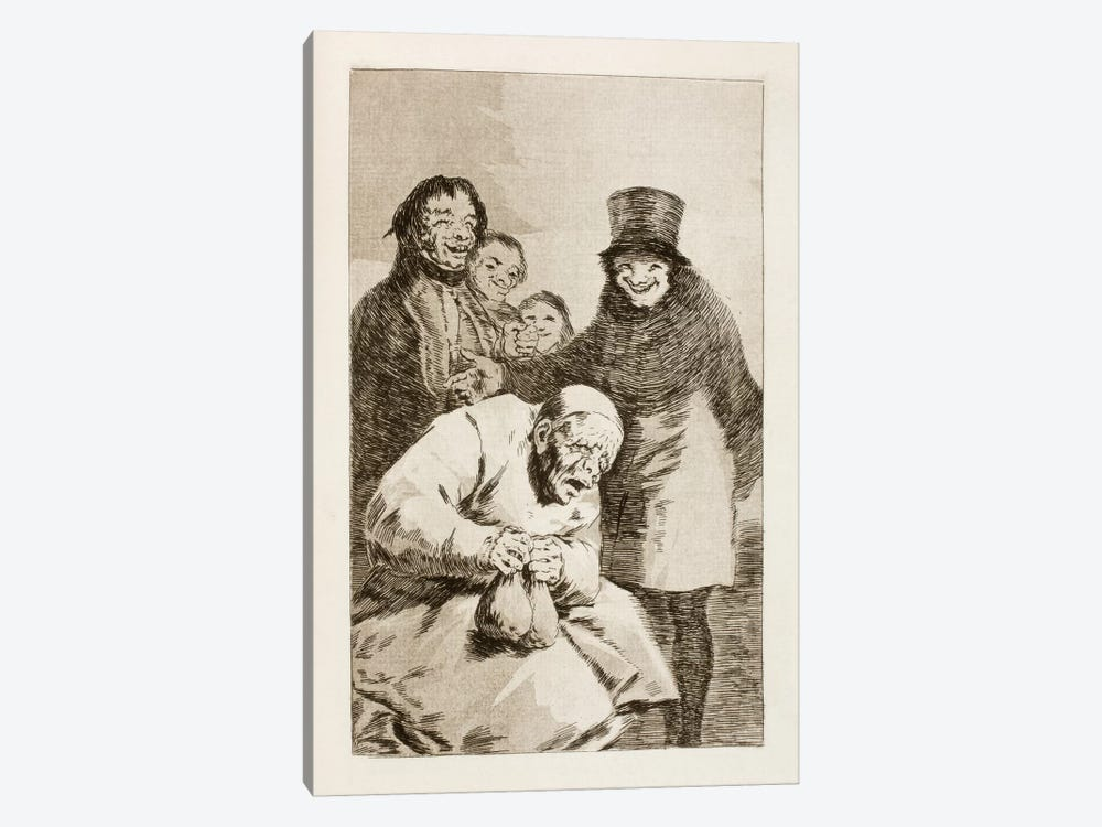 Los Caprichos: Why Hide Them? by Francisco Goya 1-piece Canvas Art