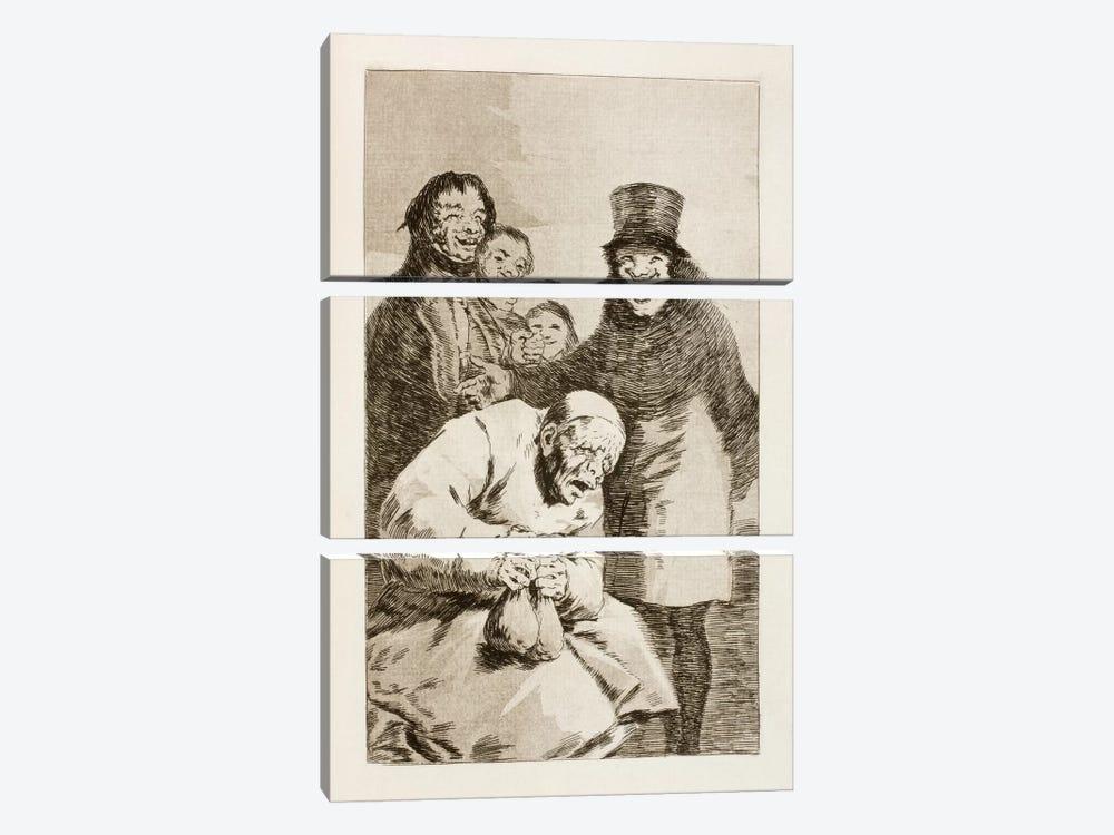 Los Caprichos: Why Hide Them? by Francisco Goya 3-piece Canvas Artwork