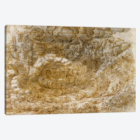 Deluge, 1518 Canvas Print #15387} by Leonardo da Vinci Canvas Art