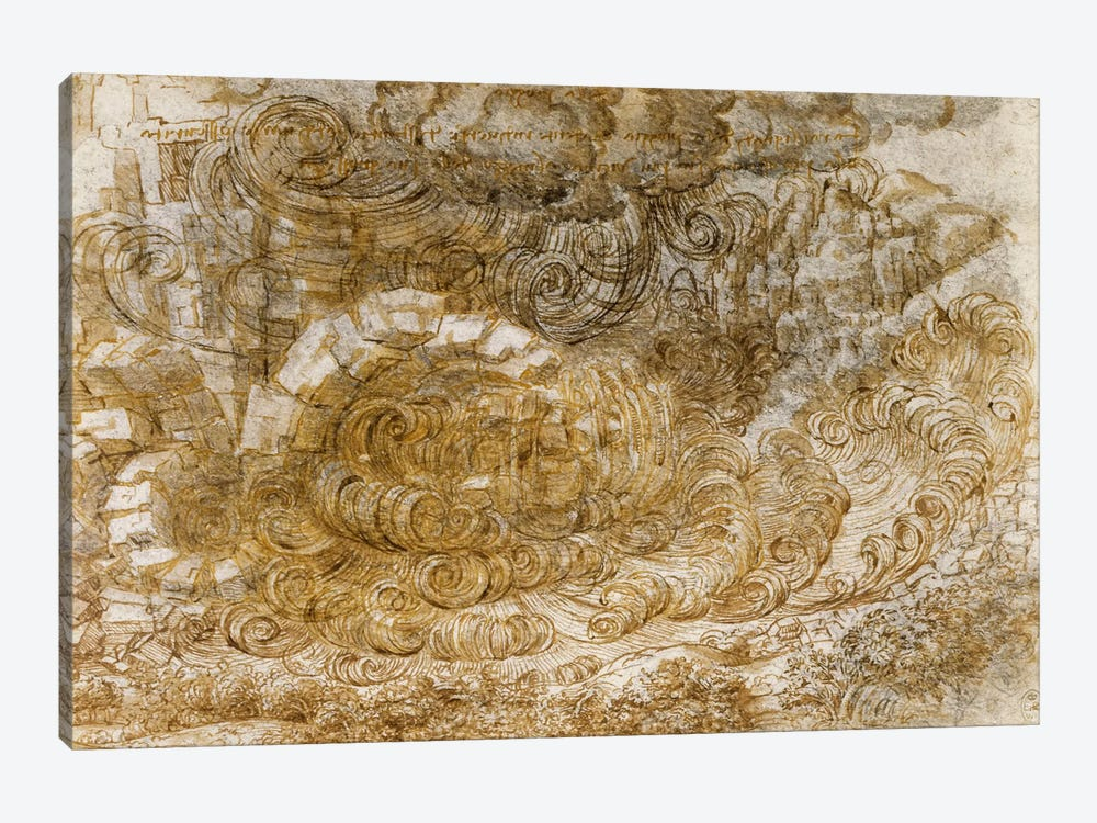 Deluge, 1518 by Leonardo da Vinci 1-piece Art Print