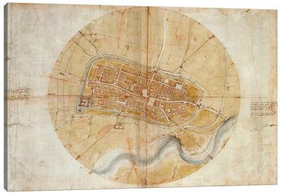 Map of Imola, 1502 Canvas Print #15389