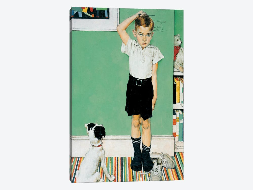 He's Going to Be Taller Than Dad by Norman Rockwell 1-piece Canvas Print