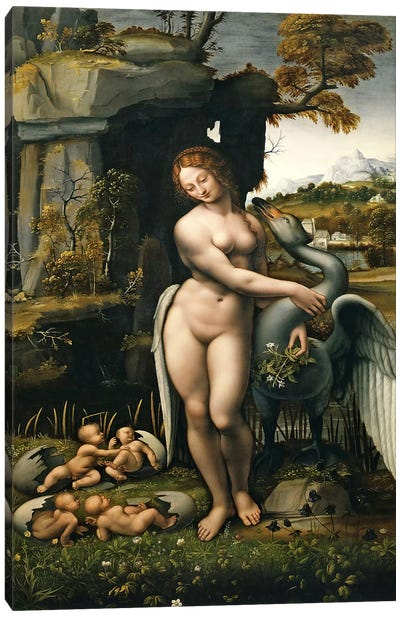 Leda and the Swan, 1515 Canvas Art Print