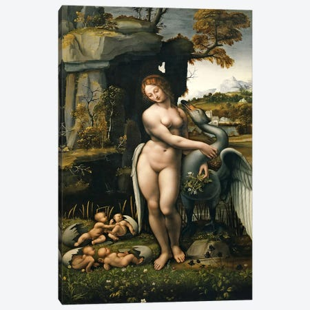 Leda and the Swan, 1515 Canvas Print #15392} by Leonardo da Vinci Canvas Art