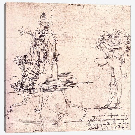 Illustration for Virtue and Envy Canvas Print #15394} by Leonardo da Vinci Canvas Print
