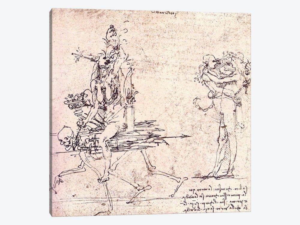 Illustration for Virtue and Envy by Leonardo da Vinci 1-piece Canvas Art Print