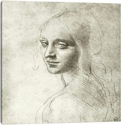 Head of a Girl, 1483 Canvas Art Print