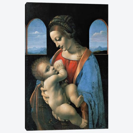 Madonna Litta, 1490 Canvas Print #15398} by Leonardo da Vinci Canvas Wall Art