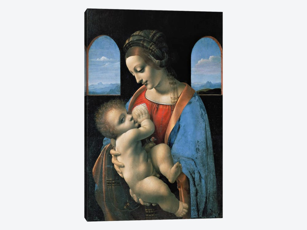 Madonna Litta, 1490 by Leonardo da Vinci 1-piece Canvas Art Print