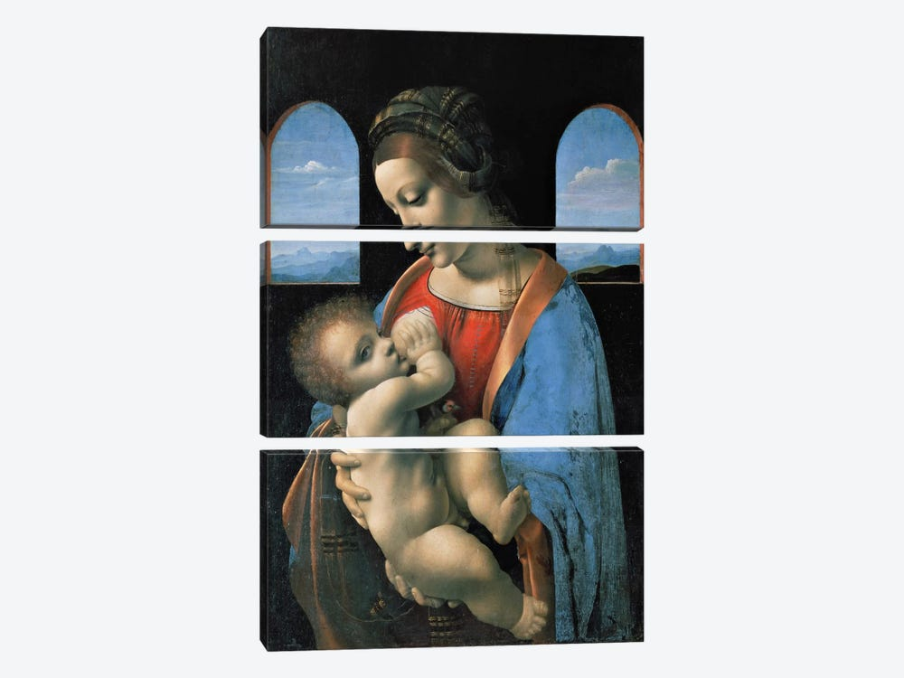 Madonna Litta, 1490 3-piece Art Print