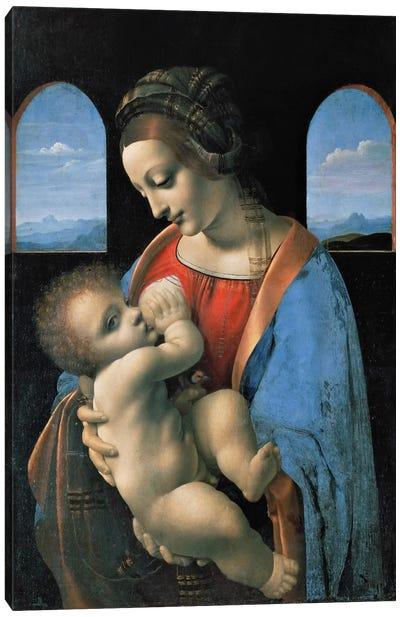 Madonna Litta, 1490 Canvas Art Print
