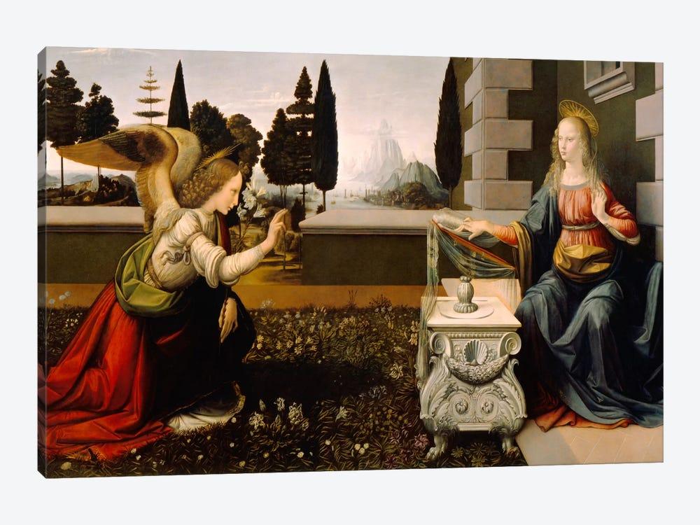 Annunciation by Leonardo da Vinci 1-piece Canvas Artwork