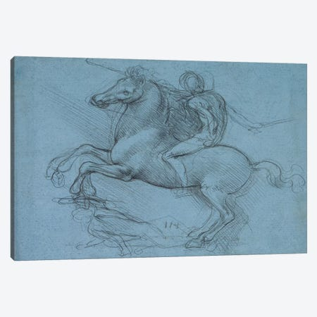 A Study for an Equestrian Monument, 1490 Canvas Print #15409} by Leonardo da Vinci Canvas Wall Art