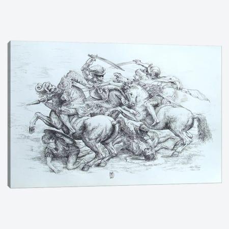 The Battle of Anghiari, 1505 Canvas Print #15411} by Leonardo da Vinci Canvas Art Print