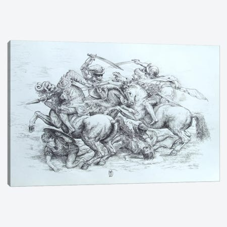 The Battle of Anghiari, 1505 Canvas Print #15411} by Leonardo da Vinci Canvas Art Print