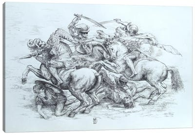 The Battle of Anghiari, 1505 by Leonardo da Vinci Canvas Art Print