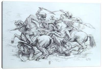 The Battle of Anghiari, 1505 Canvas Art Print