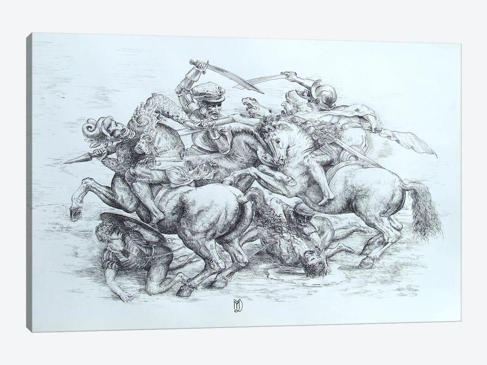 The Battle of Anghiari, 1505 by Leonardo da Vinci 1-piece Canvas Print