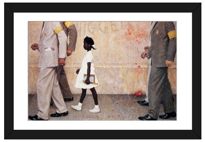 The Problem We All Live With (Ruby Bridges) Framed Art Print