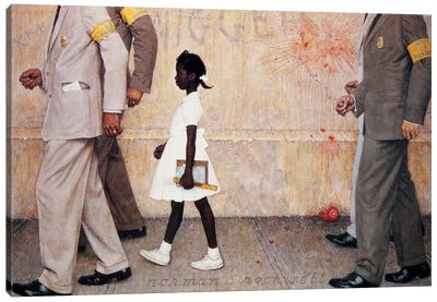 The Problem We All Live With (Ruby Bridges) by Norman Rockwell Canvas Art Print