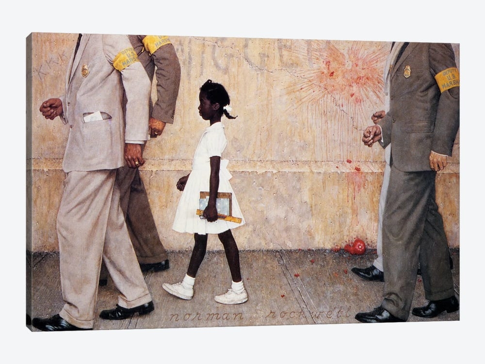 The Problem We All Live With (Ruby Bridges) by Norman Rockwell 1-piece Canvas Art Print