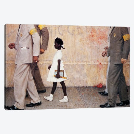 The Problem We All Live With (Ruby Bridges) Canvas Print #1543} by Norman Rockwell Canvas Art Print