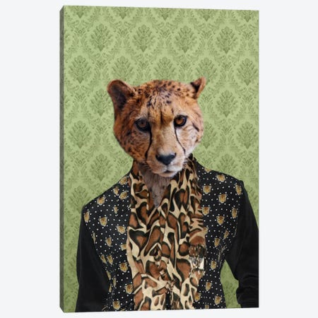 Chase the Cheetah Canvas Print #15448} by 5by5collective Canvas Artwork