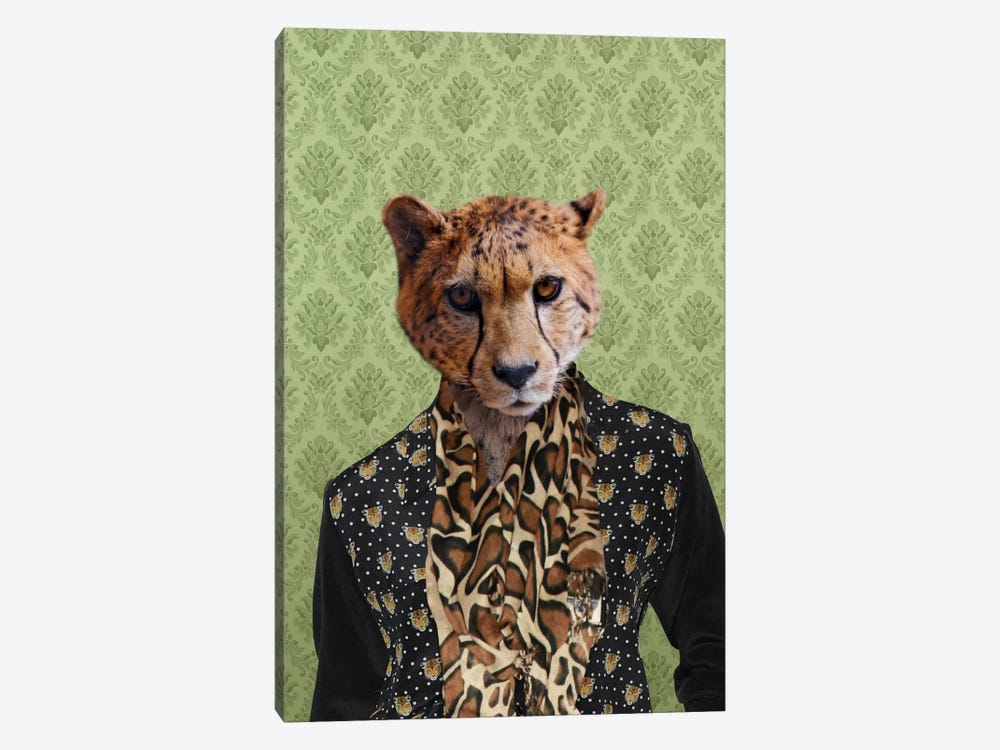 Chase the Cheetah by 5by5collective 1-piece Canvas Art Print