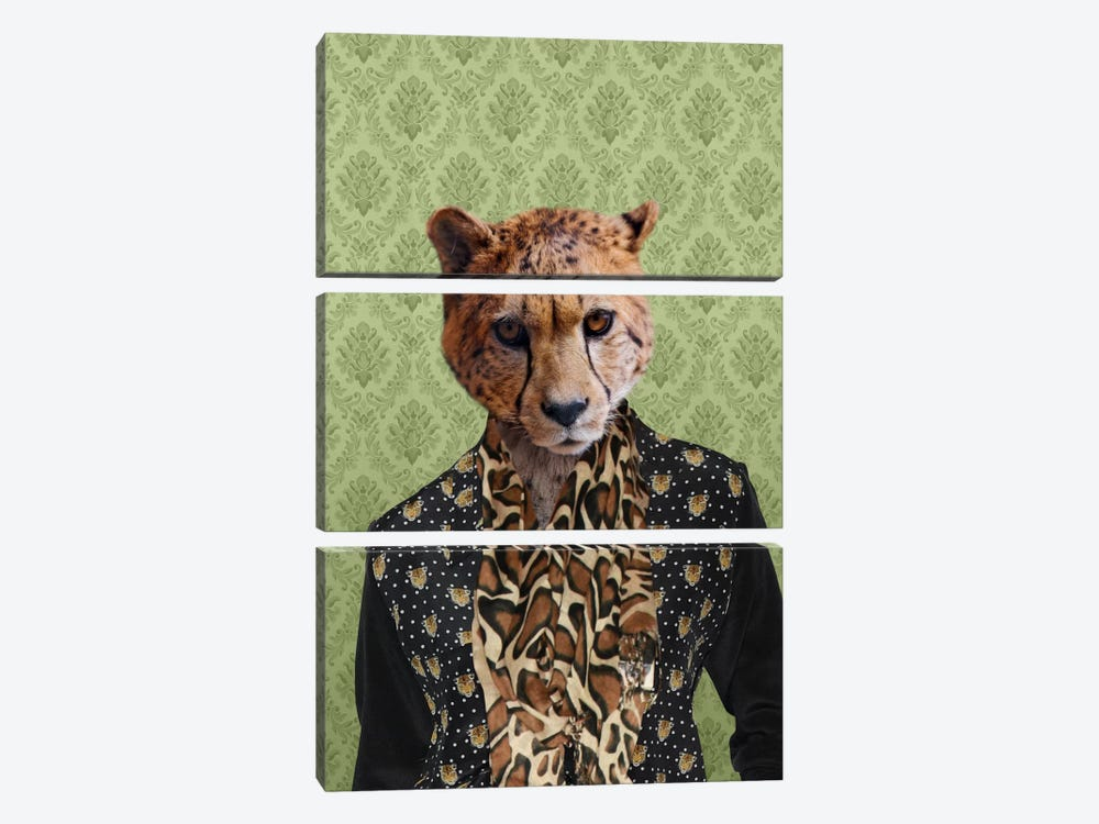 Chase the Cheetah by 5by5collective 3-piece Canvas Art Print