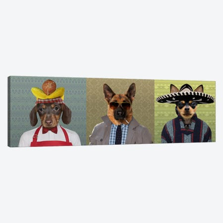 Dogs Dressed Down Trio 2 Canvas Print #15456} by 5by5collective Canvas Artwork