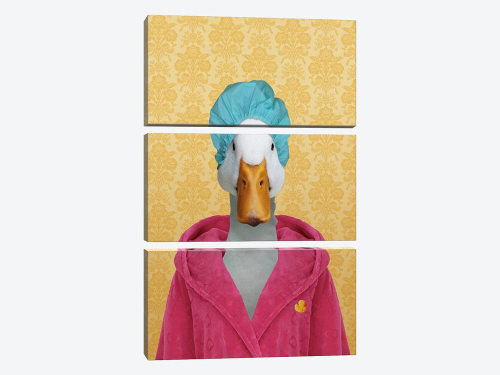 Dorothy the Duck by 5by5collective 3-piece Canvas Wall Art