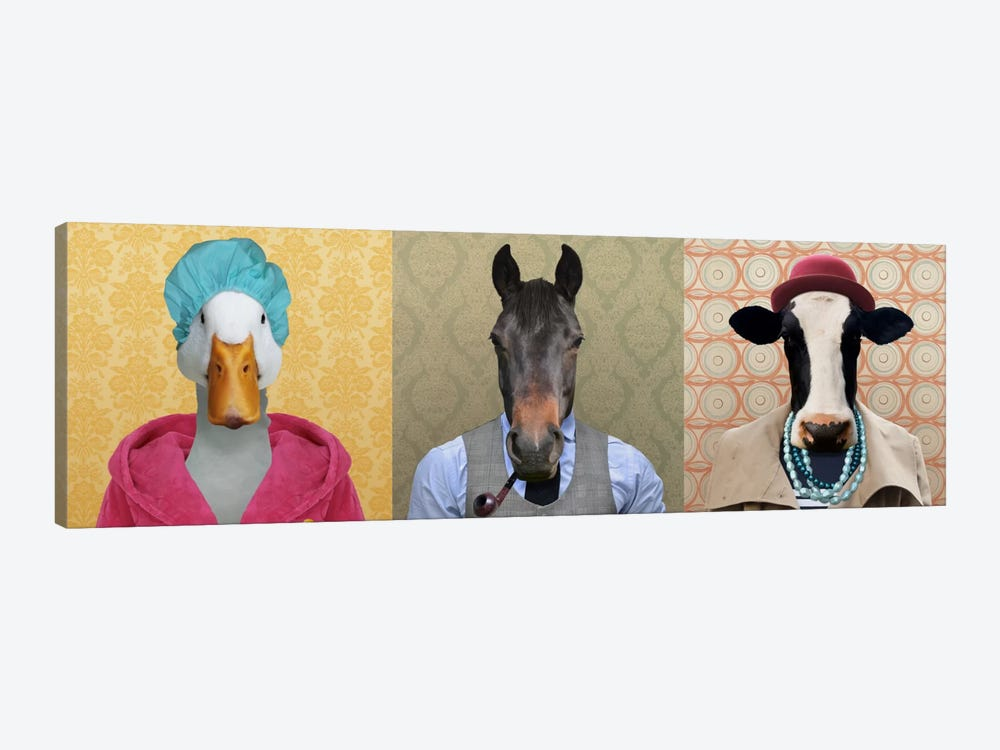 Farm Animals Dressed Up by 5by5collective 1-piece Canvas Art Print