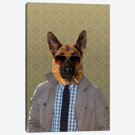Guy the German Shepherd Canvas Print #15465} by 5by5collective Canvas Print