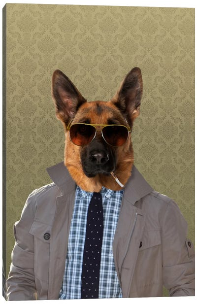 Guy the German Shepherd Canvas Art Print