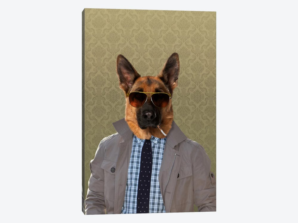 Guy the German Shepherd by 5by5collective 1-piece Canvas Wall Art