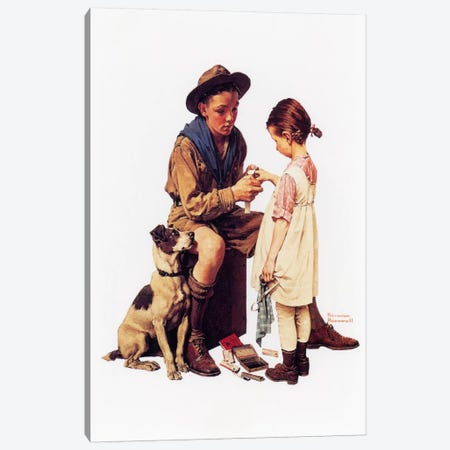 Young Doctor Canvas Print #1546} by Norman Rockwell Canvas Artwork
