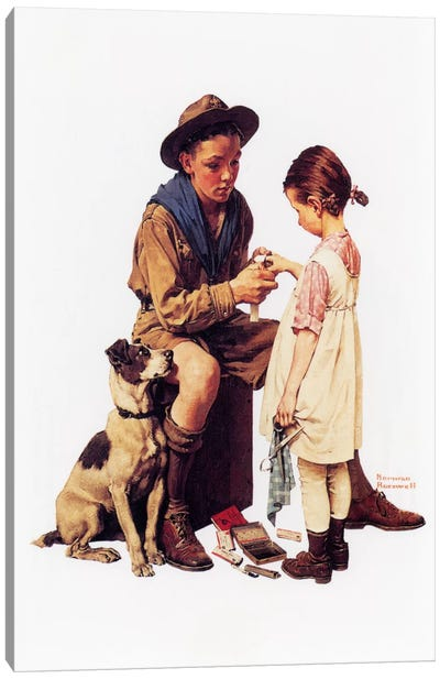 Young Doctor by Norman Rockwell Canvas Artwork