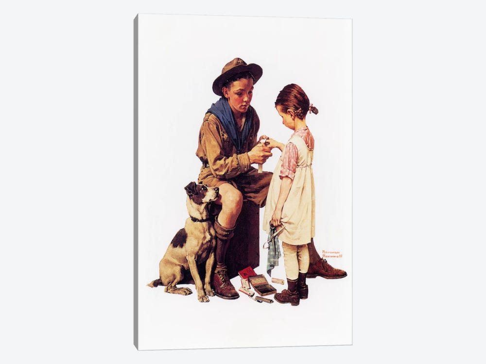 Young Doctor by Norman Rockwell 1-piece Canvas Art