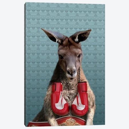 Bo the Kangaroo Canvas Print #15471} by 5by5collective Art Print