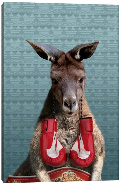 Bo the Kangaroo Canvas Art Print