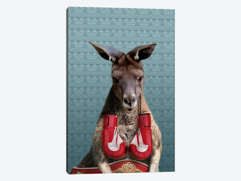 Bo the Kangaroo by 5by5collective 1-piece Canvas Print