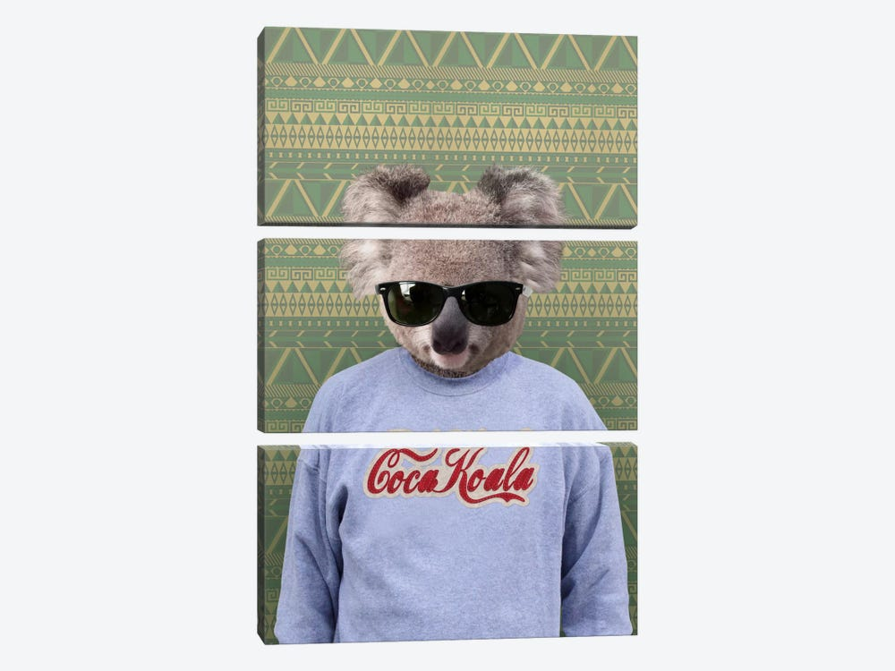 Clifford the Koala by 5by5collective 3-piece Canvas Wall Art