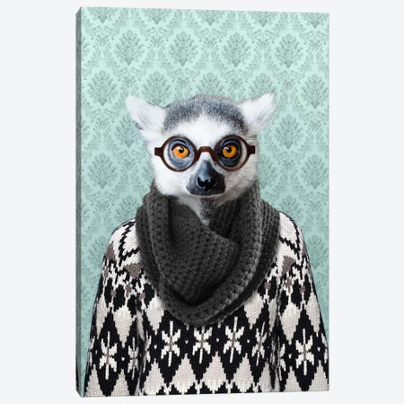 Louie the Leemur Canvas Print #15473} by 5by5collective Canvas Art Print