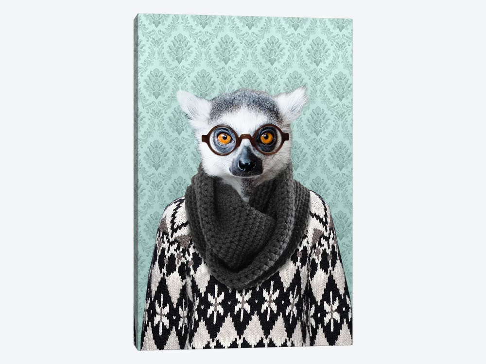 Louie the Leemur by 5by5collective 1-piece Art Print