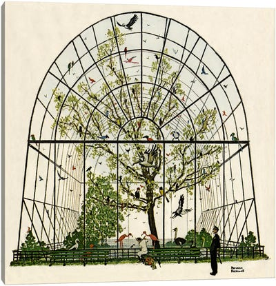 The Aviary Canvas Art Print