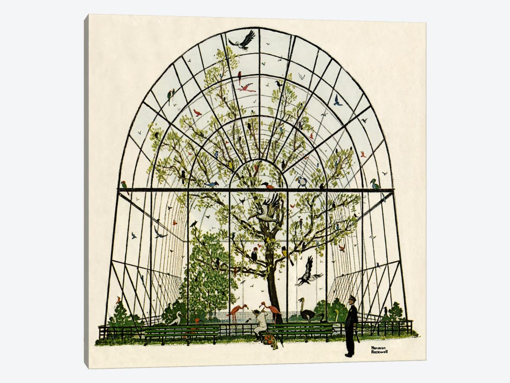 The Aviary by Norman Rockwell 1-piece Art Print