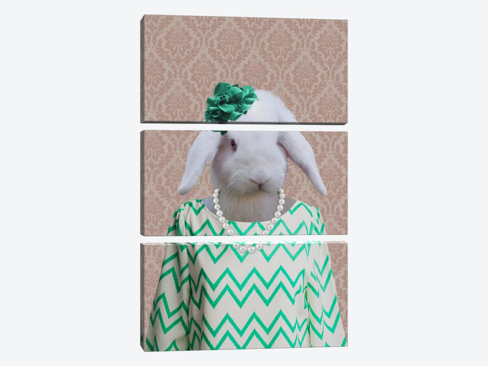 Rachel the Rabbit by 5by5collective 3-piece Art Print