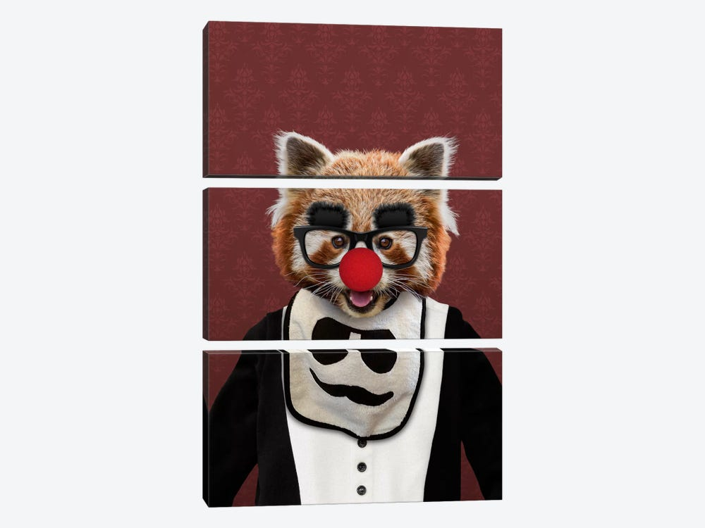 Red the Red Panda by 5by5collective 3-piece Canvas Art Print