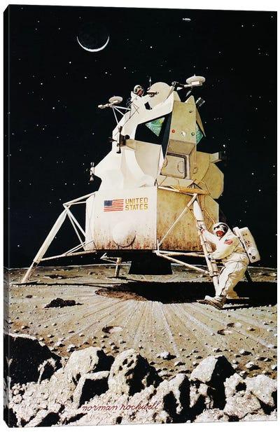 Man on the Moon Canvas Art Print