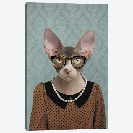Shelly the Sphynx Cat Canvas Print #15492} by 5by5collective Art Print